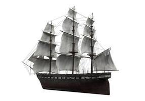 nave a vela isolata