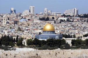 vista della città vecchia di gerusalemme