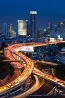 Superstrada di Bangkok e vista dall'alto dell'autostrada, Thailandia