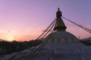grande stupa di boudha foto