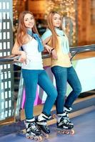 belle ragazze sul rollerdrome
