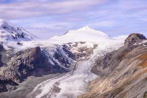 vista del ghiacciaio franz josefs hohe, parco nazionale degli hohe tauern