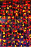 sfondo circolare bokeh di luce natalizia.