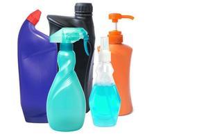 bottiglia di plastica per prodotti liquidi foto