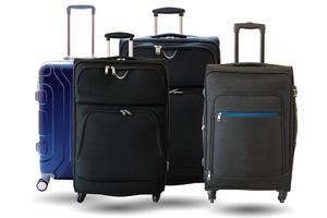 valigie isolati su sfondo bianco