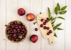 assortiti sfondo di frutta metà autunno