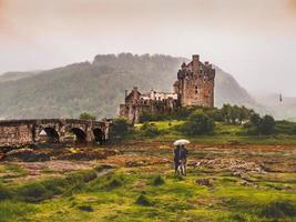 kyle of lochalsh, scozia, 2020 - castello di eilean donan in scozia