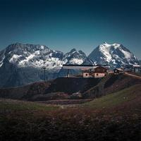 courchevel, francia, 2020 - stazione sciistica nelle alpi francesi