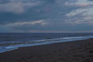 la notte su una spiaggia