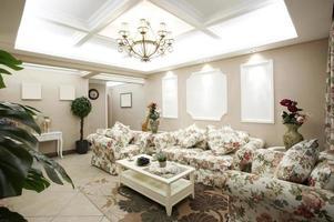 interni domestici, soggiorno in stile pastorale foto