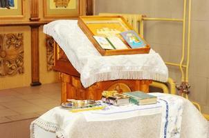 interno della chiesa ortodossa russa foto