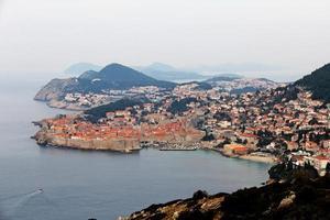 vista della città vecchia di dubrovnik foto
