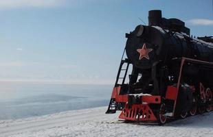 vecchia macchina a vapore sovietica nella siberia orientale