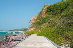 ponte di legno all'isola