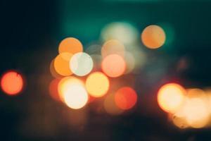 luci auto blured di notte