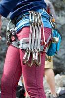 attrezzatura da arrampicata foto