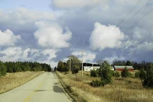 strada solitaria. foto