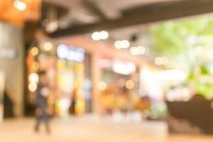 sfondo sfocato dello shopping foto