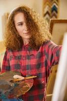 pittura con oli foto