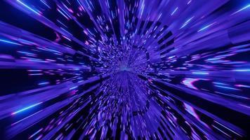tunnel di luci al neon blu