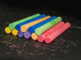 sfondo di gesso colorato