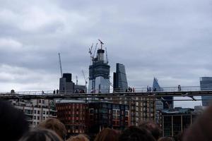 londra, inghilterra, 2020 - costruzione di edifici in città