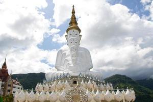 statue di buddha davanti al cielo in wat phra thart pha kaew