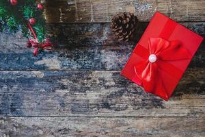 confezione regalo di Natale rosso foto