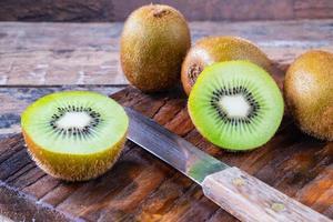 primo piano di kiwi