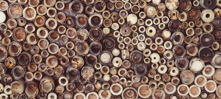 bambù di legno tritato