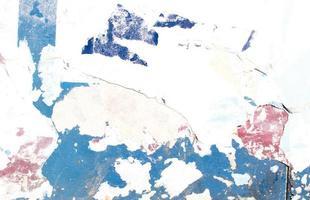 vernice blu e rossa scheggiata