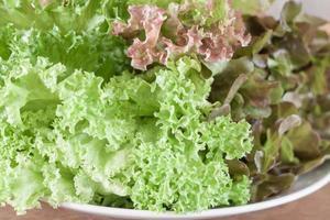 primo piano di insalata
