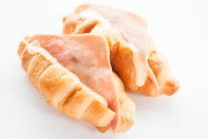 croissant prosciutto e formaggio foto