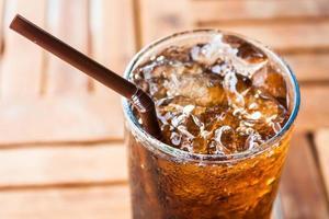 primo piano di soda ghiacciata foto