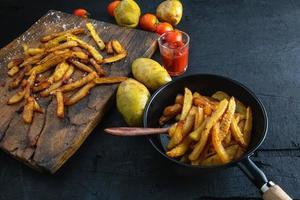 cuocere le patate fritte