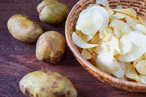 patatine fritte nel cestino