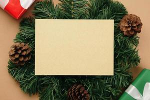 modello di mockup di biglietto di auguri di buon natale