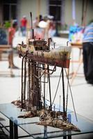 sagua la grande, cuba, 2020 - miniatura della nave in mostra foto