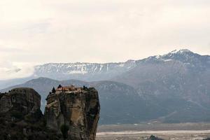 meteora, grecia, 2020 - monastero su una scogliera