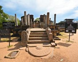 antiche rovine di watadagaya a polonnaruwa sri lanka