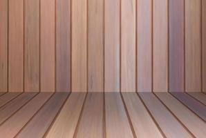 interno della parete in legno marrone foto