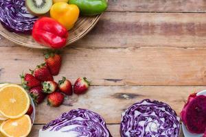 frutta e verdura fresca foto