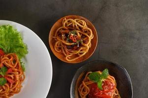 pasta italiana con salsa
