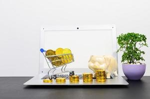concetto di crescita finanziaria con monete