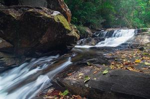 paesaggio nel parco nazionale delle cascate di khao chamao