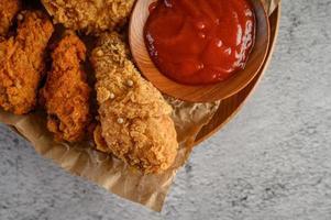 pollo fritto croccante foto
