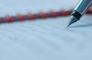 primo piano di una penna foto