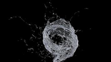 spruzzi d'acqua su sfondo nero