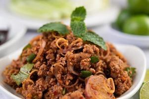 carne di maiale tritata piccante gourmet