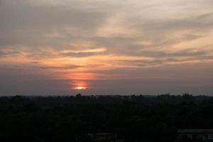 il cielo al tramonto